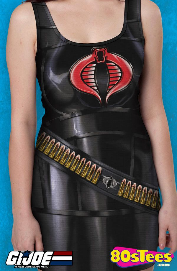 fbde777a3ae3 Baroness Sublimation Cobra Tank Dress: GI Joe Juniors Tank Dress This  women's fashion will transform you into the Baroness with great style, ...