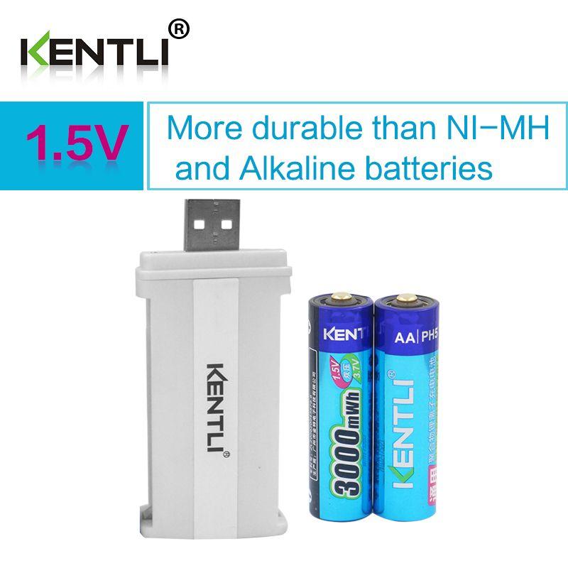 2pcs Kentli 1 5v 3000mwh Li Polymer Li Ion Lithium Rechargeable Aa Battery Batterie 2slots Cu57 Charger Affiliat Rechargeable Batteries Polymer Aa Batteries