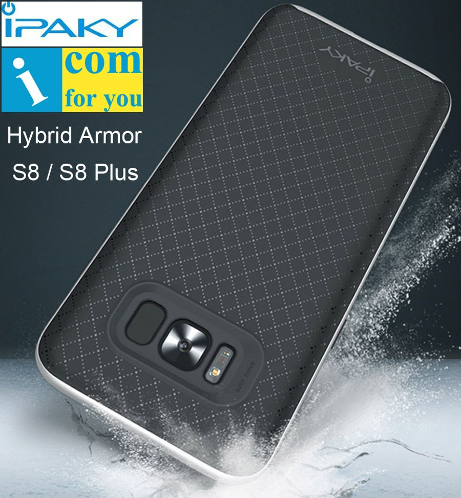 Original Ipaky Hybrid Cover Case For Samsung Galaxy S8 Plus Slim Silicone Casing Armor Protector Shell Frame