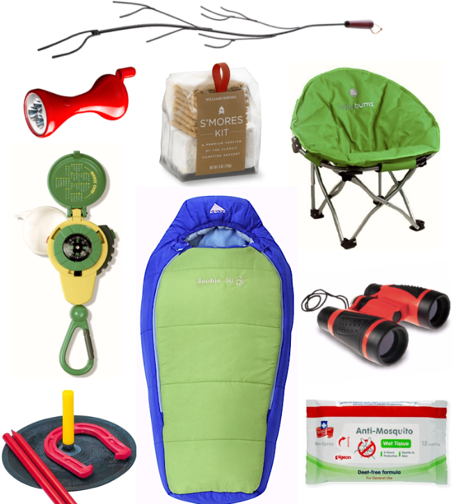 A Selection Of Some Cool Camping Gear For Toddlers And Kids