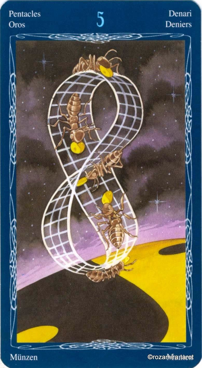 5 Of Pentacles Tarot Of The Mystic Spiral Tarot Pinterest