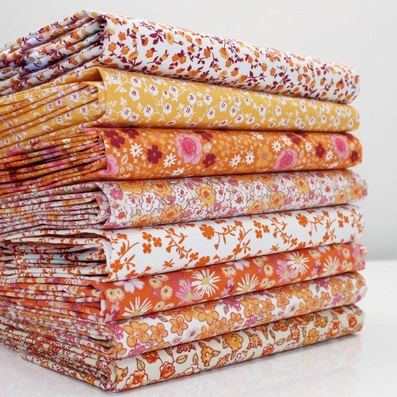 Lot de 7 coupons de tissu patchwork