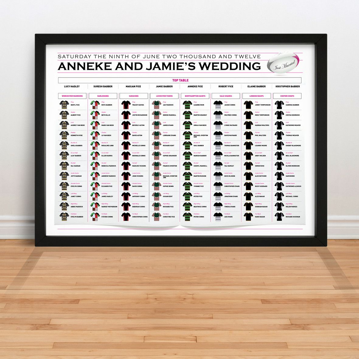 Rugby Table Plan Rugby Wedding Table Plans Seating Plan
