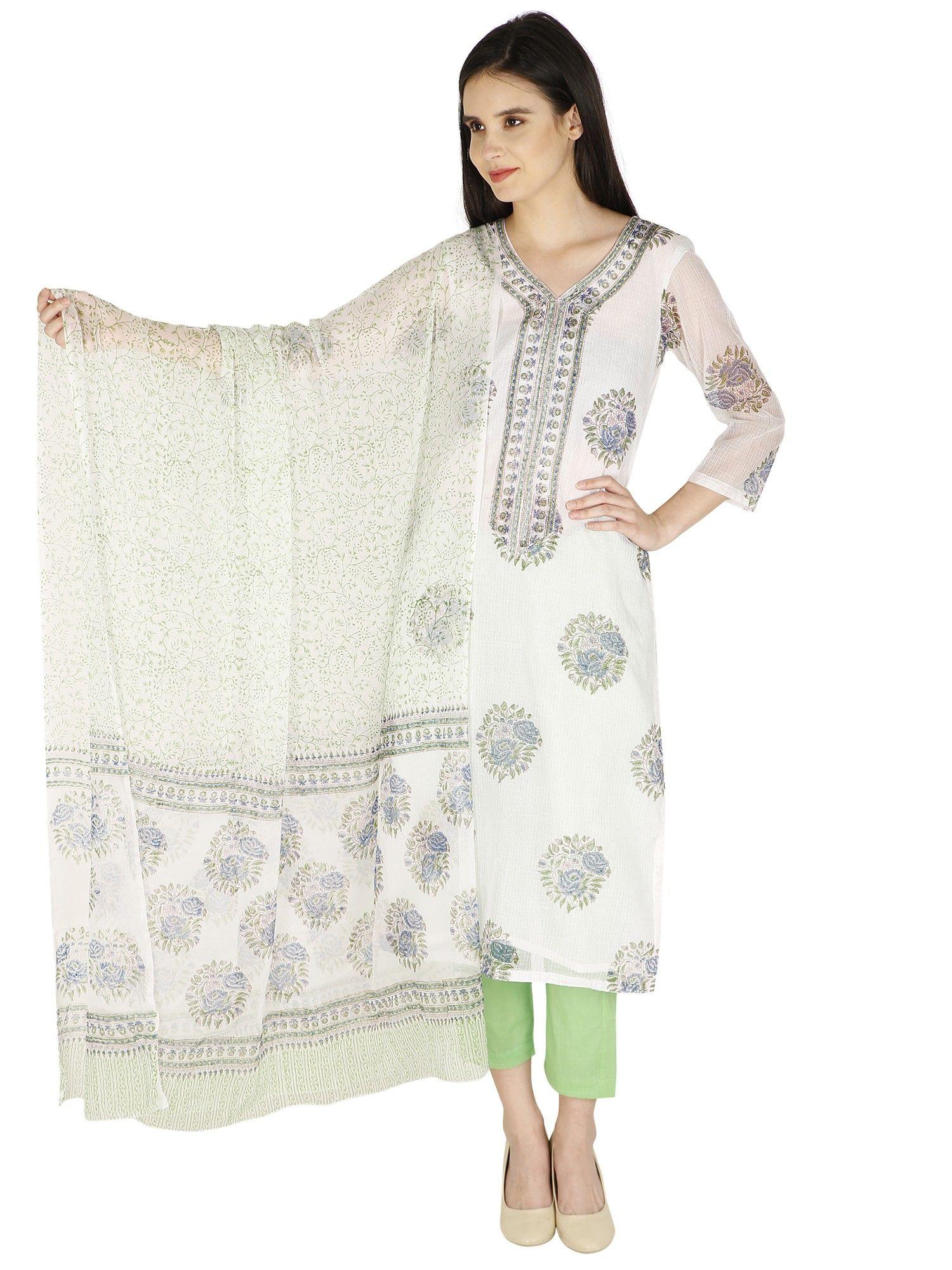 e3140d3420 Printed Kota Cotton Salwar Suit   Cotton Classics - block printed ...