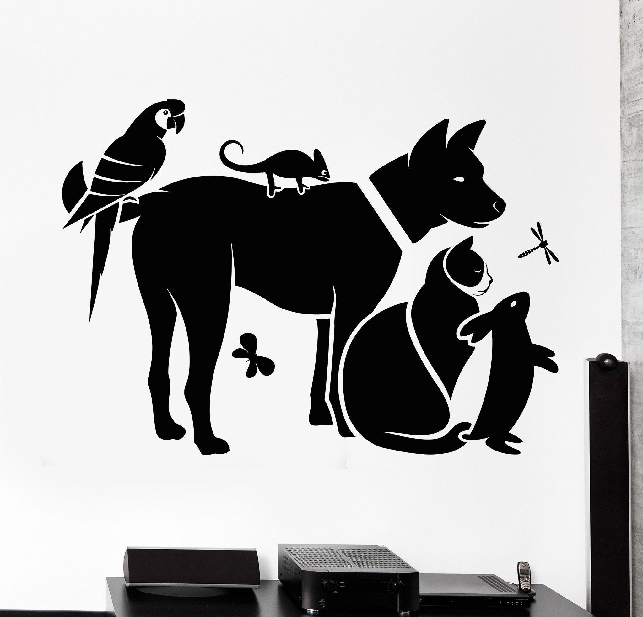 Vinyl Wall Decal Zoo Shop Animals Veterinary Clinic