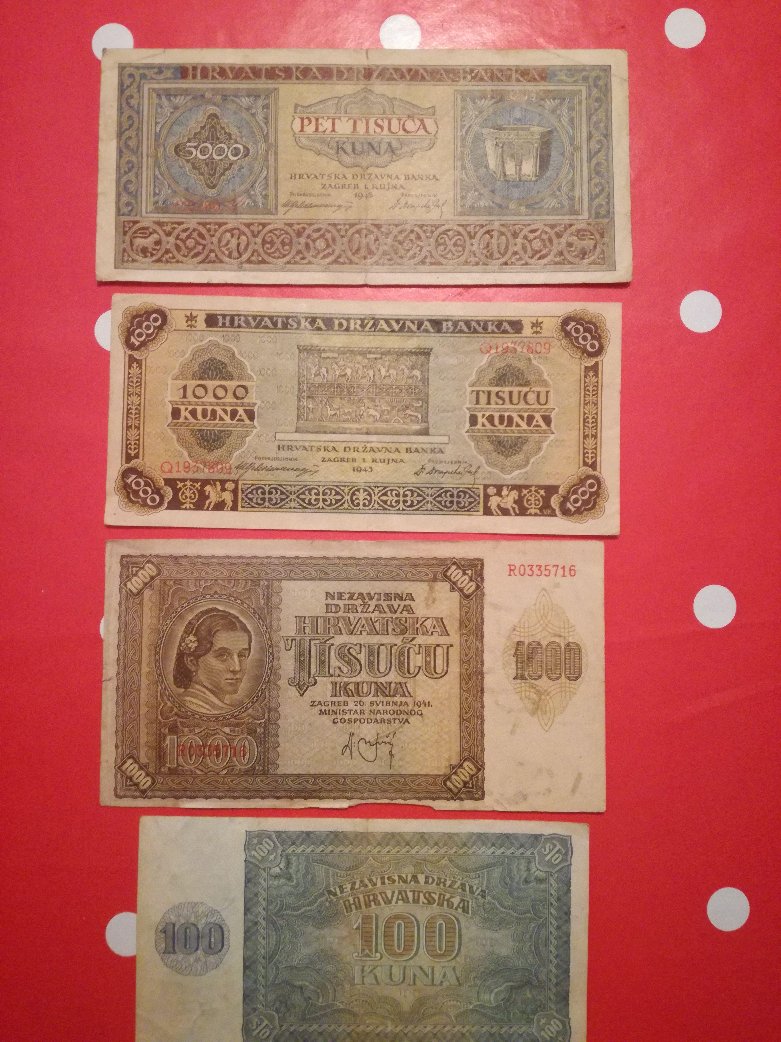 Old Croatian Money Kuna Reiseland Kroatisch Umrechnungstabelle