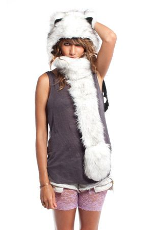 Spirithoods for Women! I can't decide between the polar bear, husky, or the snow leopard!!