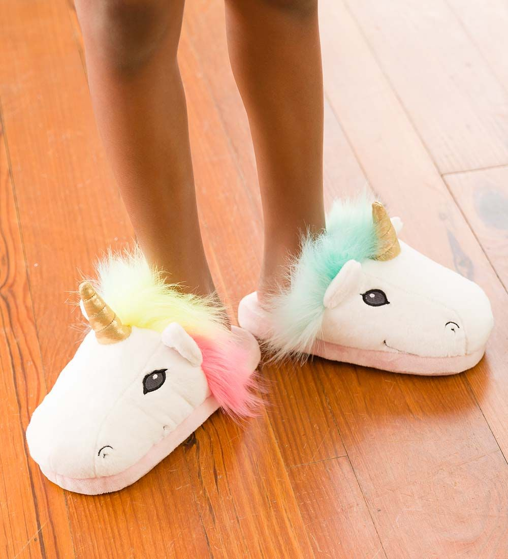 Kids\' LED Light-Up Unicorn Slippers in Shop All Fairies | Gifts ...
