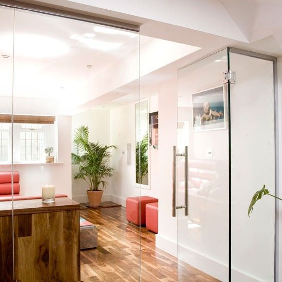 How to zone out an open plan space dedicated different - Doors to separate kitchen from living room ...