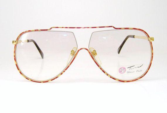 Rare Vintage Tura Aviator Sunglasses or Eyeglasses Frame NOS Mod. 447 BUR L