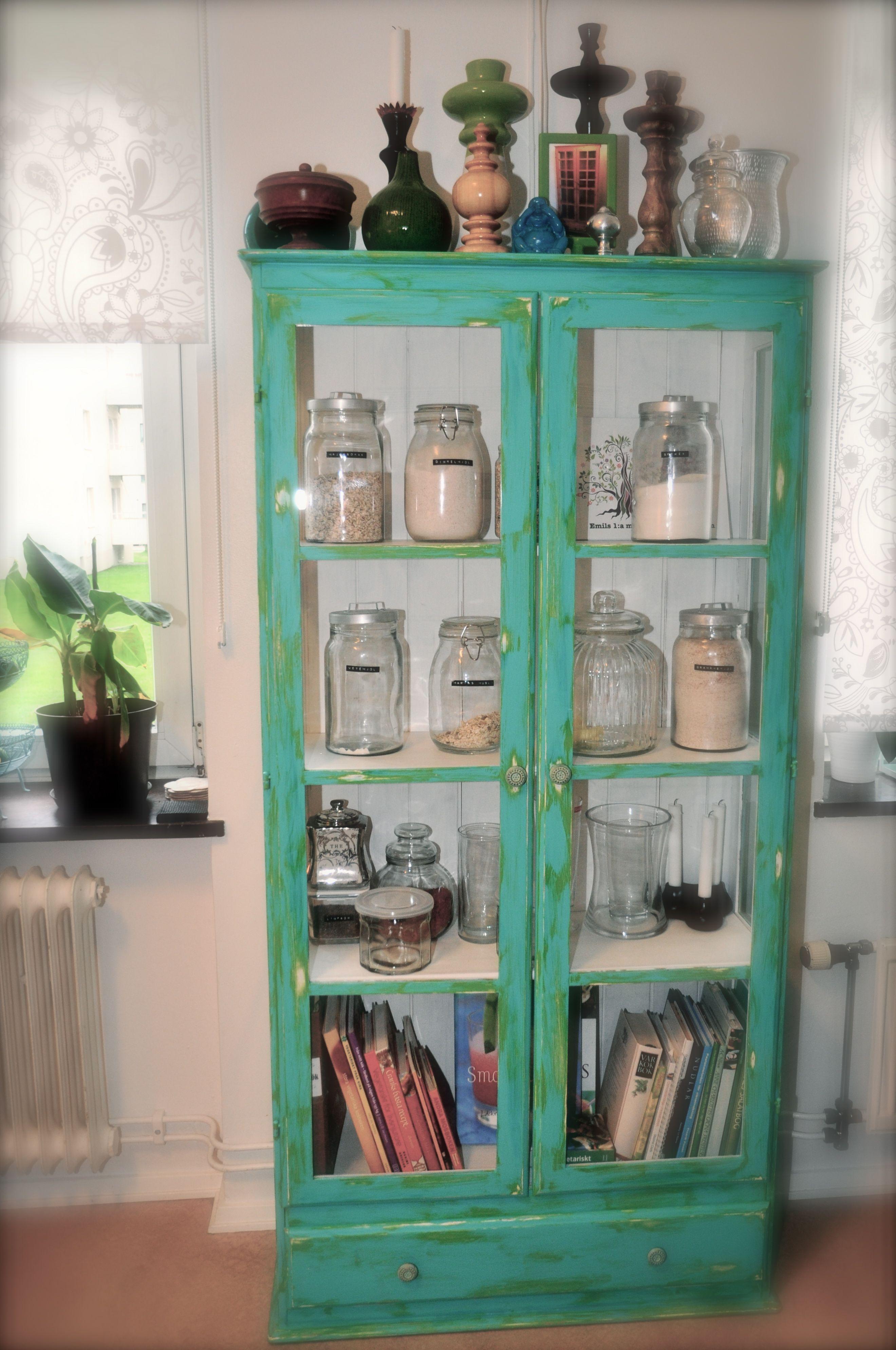 My turqouise kitchen cabinet dream furniture pinterest