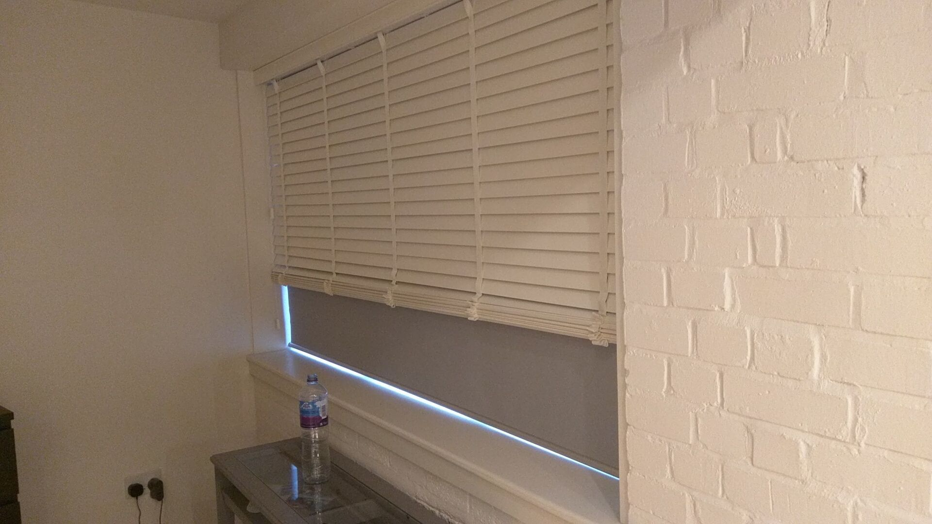Doubledual blinds wood venetian blinds with blackout roller