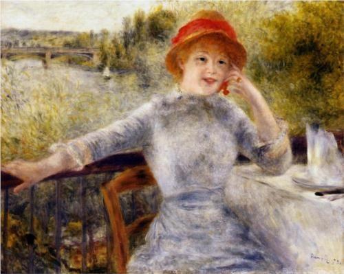 Alphonsine Fournaise on the Isle of Chatou - Pierre-Auguste Renoir