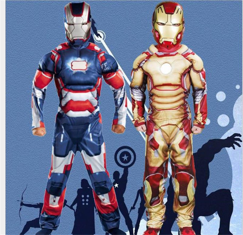Superhero Iron Man Cosplay Costume Mask For Kid Children Anime Show Suit Clothes Super Hero Costumes Superhero Halloween Costumes Halloween Costumes For Kids