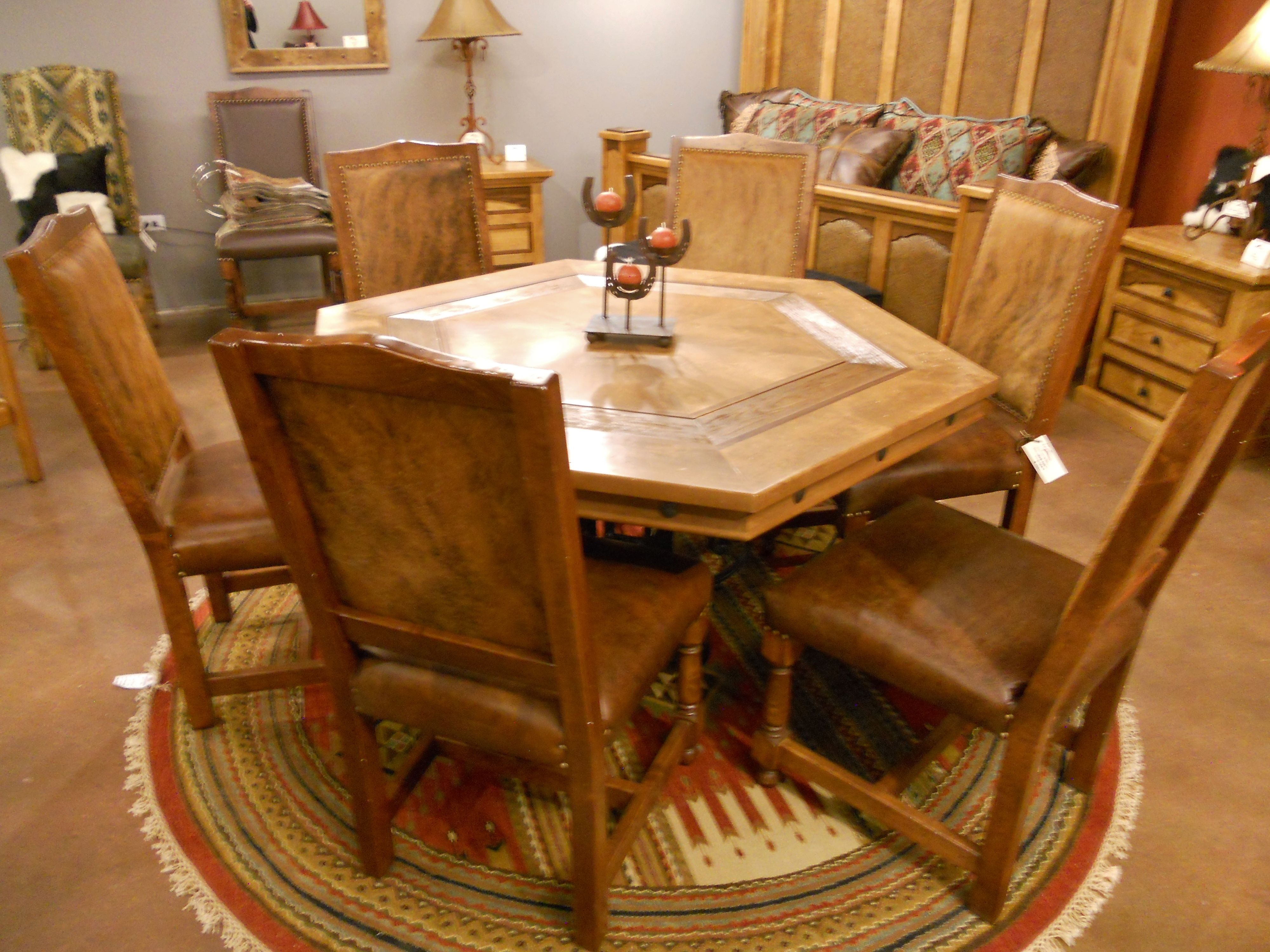 Hacienda Poker Table Set | Western Furniture | Mountain Furniture | Custom  Furniture | Rustic Furniture