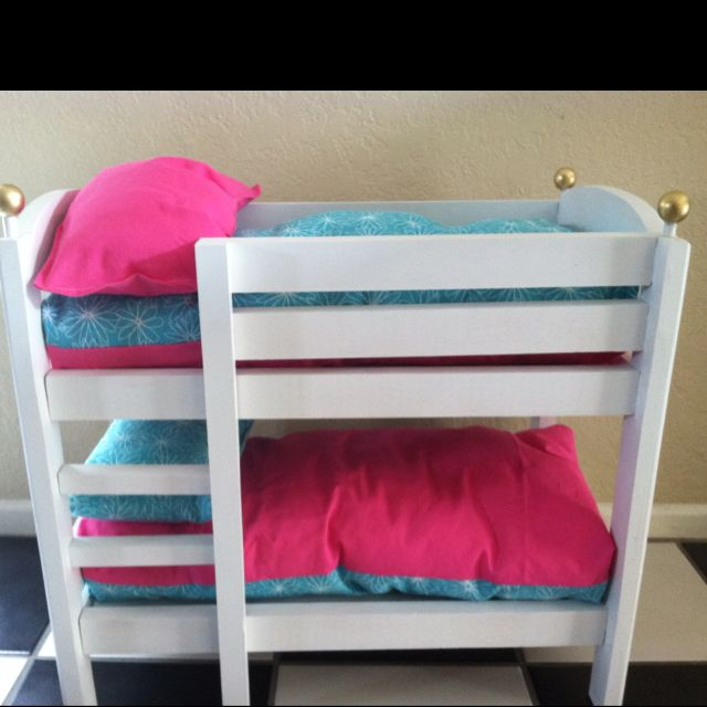 Handmade American Girl Doll Bunk Beds With Images Doll Bunk
