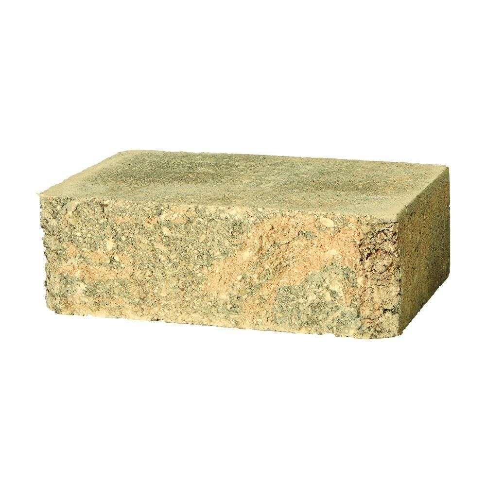 SplitRock 10.5 in. x 7 in. Large Cafe Retaining Wall Block (96 ...