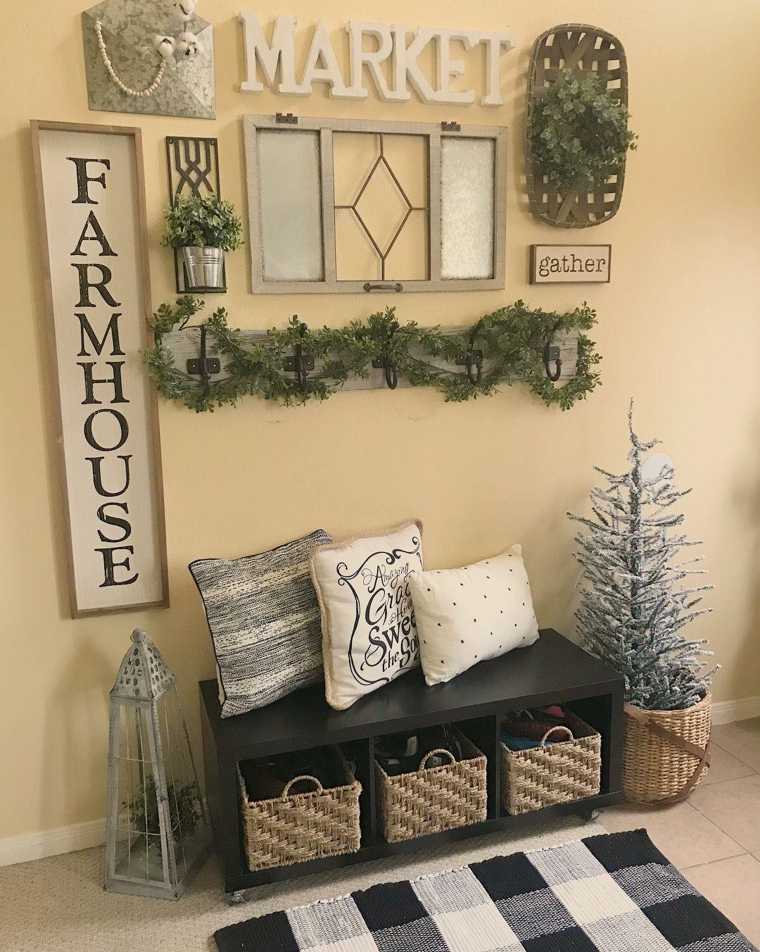 Entryway Bench & Farmhouse Decor | Our Faux Farmhouse Life ...