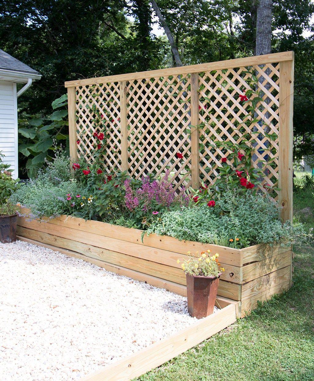 Privacy Screen Planter Diy Raised Garden Bed Plans Diy 400 x 300