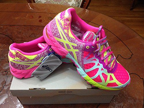 Asics Gel-Noosa Tri 9 Running Shoes Pink/Safety Yellow/Blue Tint WANT