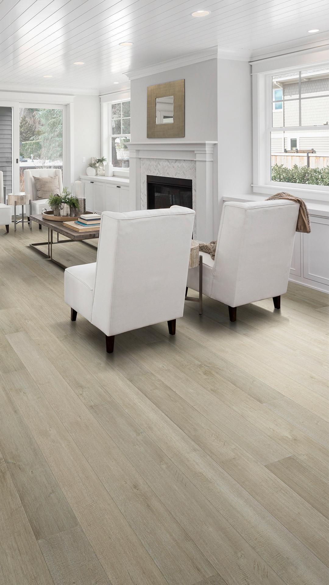 One Living Room, Seven Ways | Light grey hardwood floors ...
