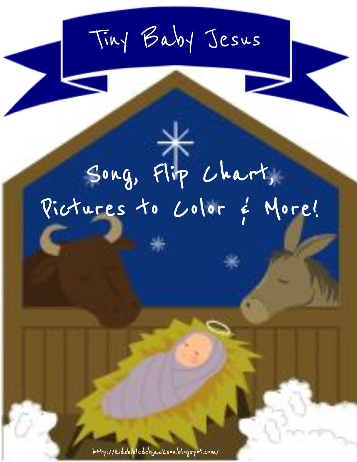 Tiny Baby Jesus Flip Chart, Song | preschool kleuterskool | Pinterest