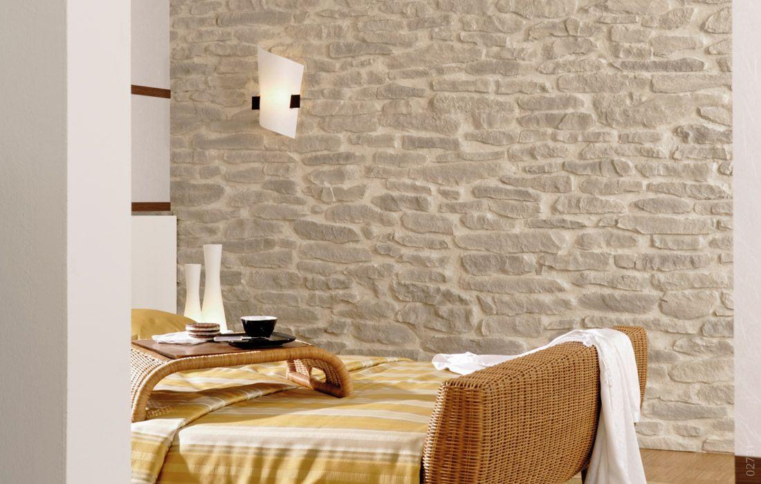 Wandgestaltung Stein Schlafzimmer Lajas | Wandgestaltung Wohnzimmer ...