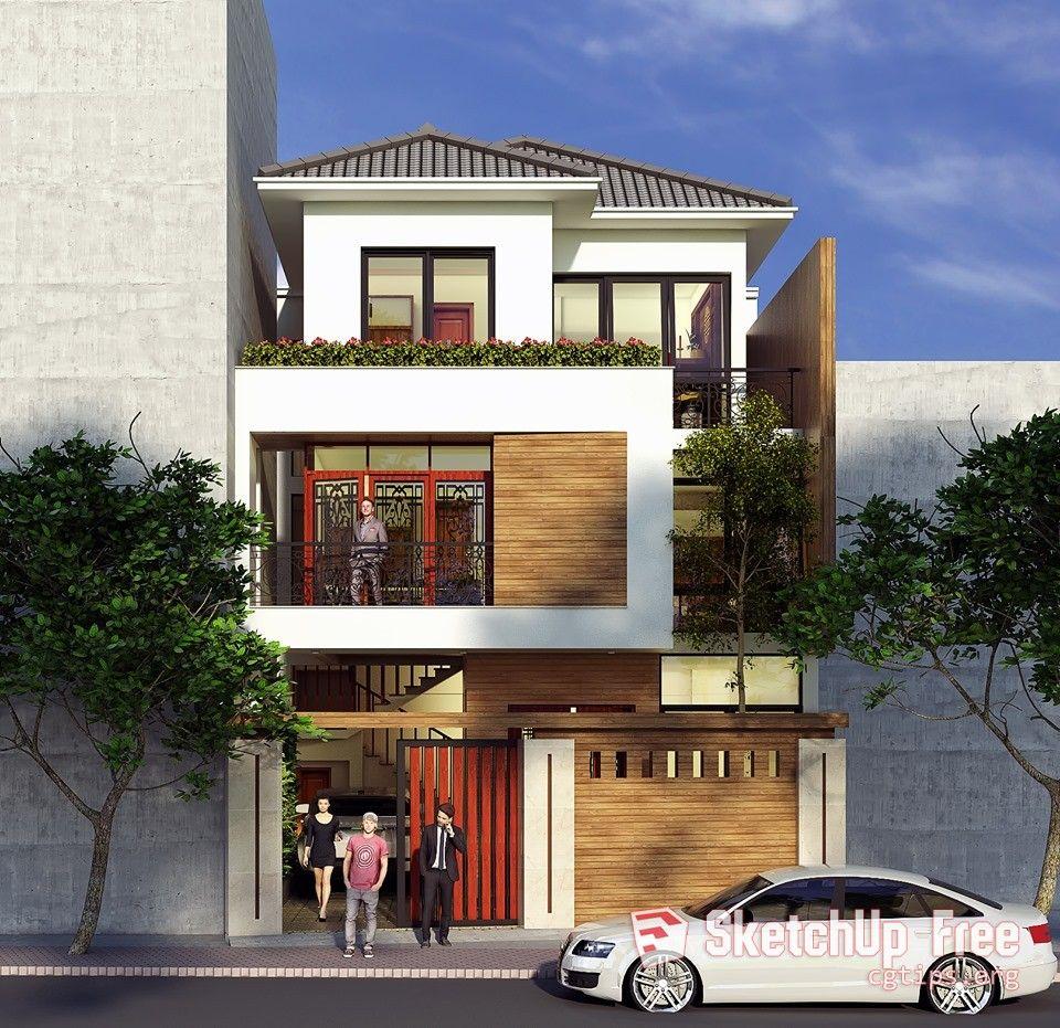 Sketchup Home Design: 2150 Exterior House Sketchup Model By Nguyen Huy Hoang