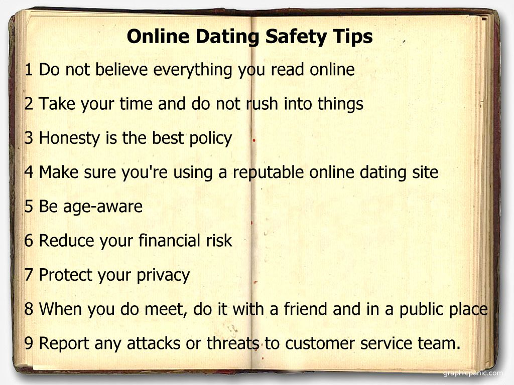 Online dating safety precautions