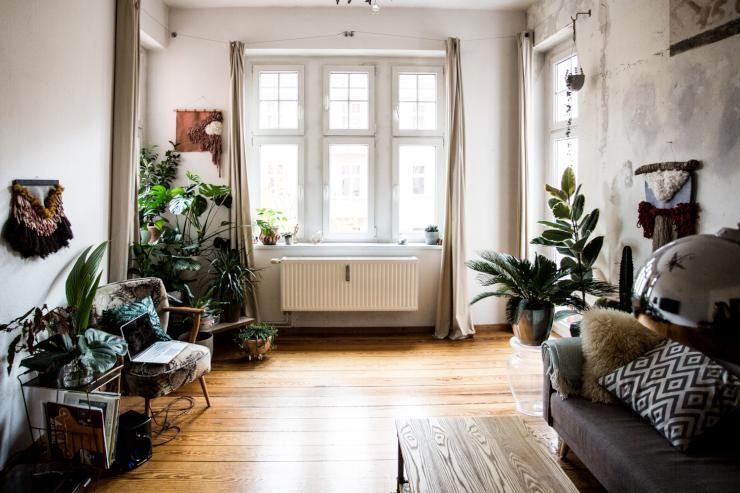 Pflanzen Wohnzimmer ~ Wunderschönes altbauwohnzimmer eingerichtet mit ausgewählten