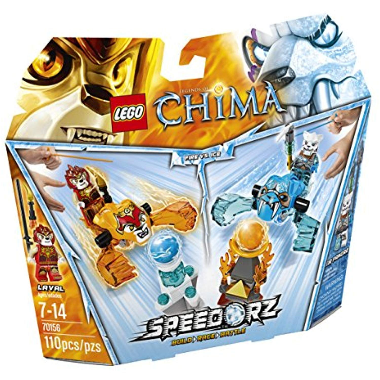 LEGO Chima 70156 Fire vs. Ice Building Toy *** Details can