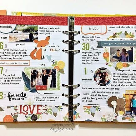 Join creative team member @idocumentlife on the blog today as she shares her process for using her @carpediemplanners as a memory planner - blog link in profile 🍂🍁