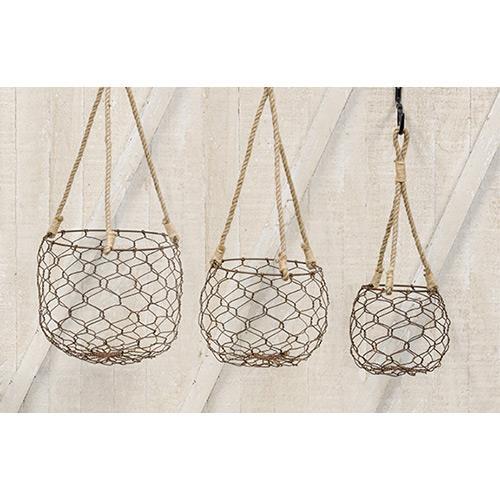 Wire Lantern Baskets (set of 3) | Pinterest | Wire basket, Chicken ...