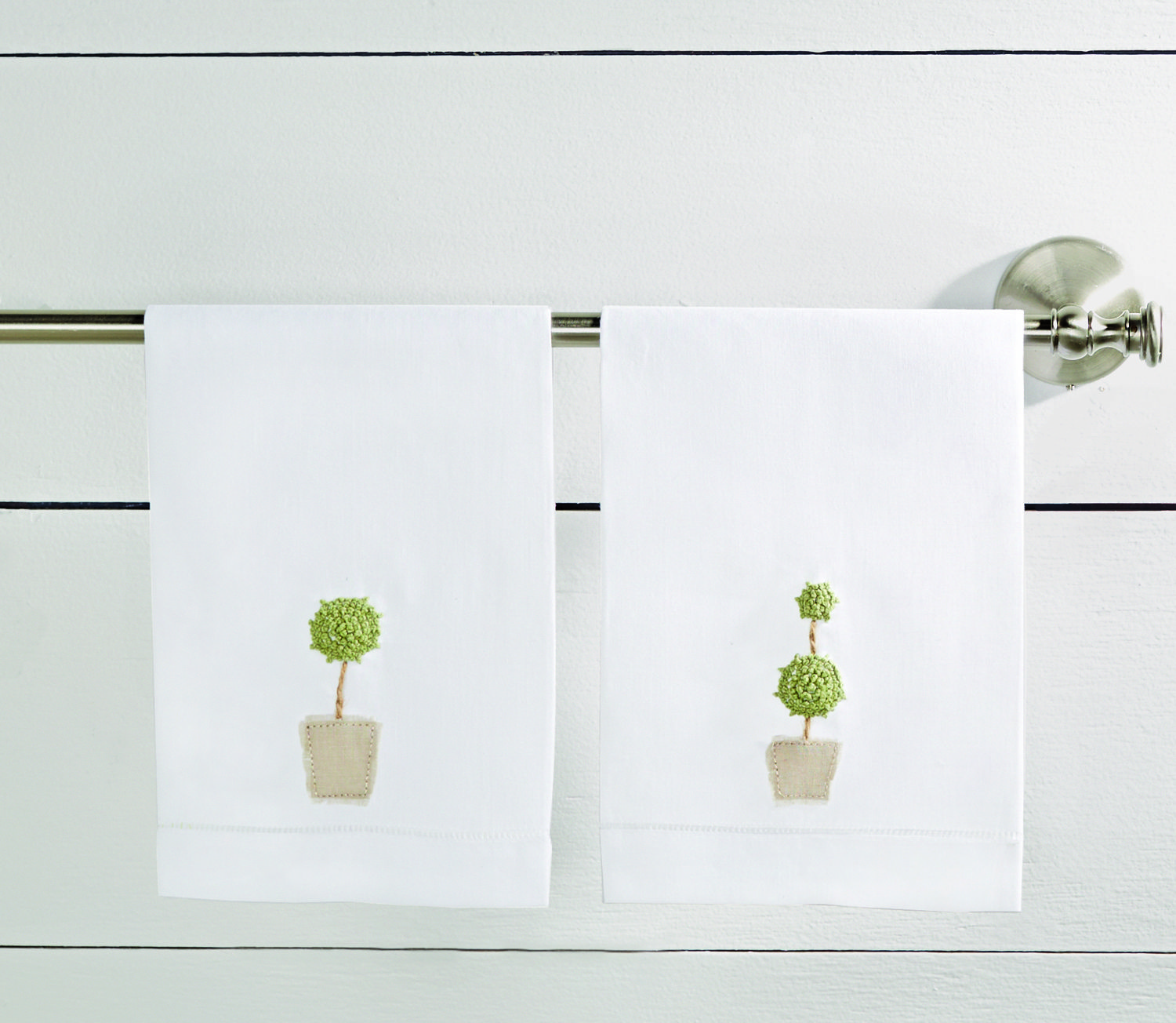 Topiary French Knot Linen Towel