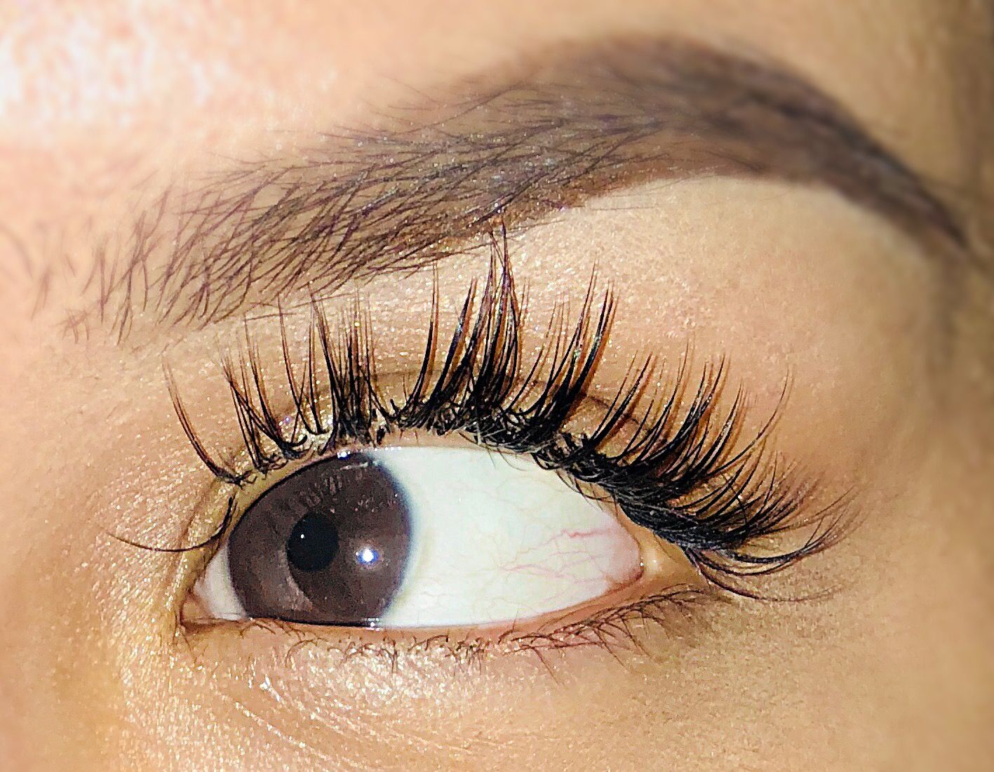 4839c19a099 Wispy lash extensions natural look | Eyelash in 2019 | Wispy lashes ...