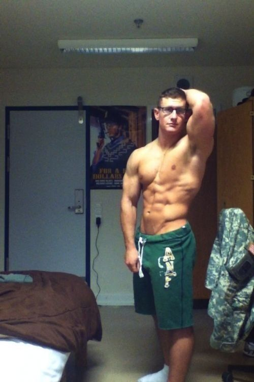 Hot guys flexing