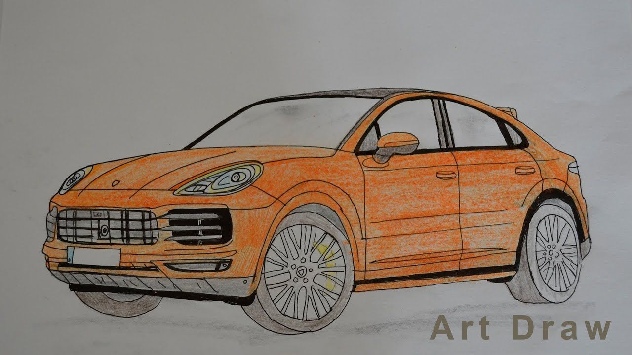 How To Draw A Porsche Cayenne Coupe 2020 Realistic Car Drawing Cayenne Cou Cayenne Coupe Drawing Auto Zeichnungen Porsche Cayenne Auto Zeichnen