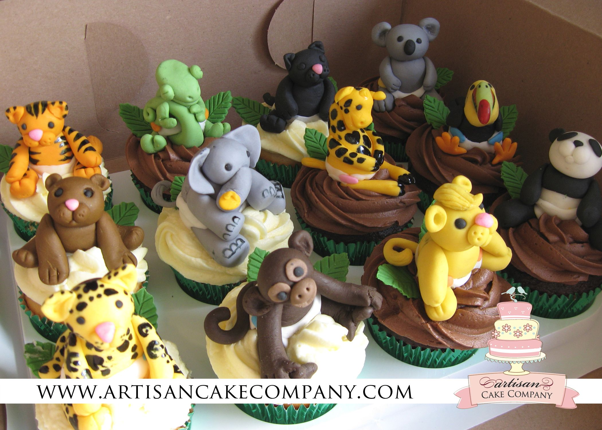 Jungle Animals Baby Shower Cupcakes Party Ideas