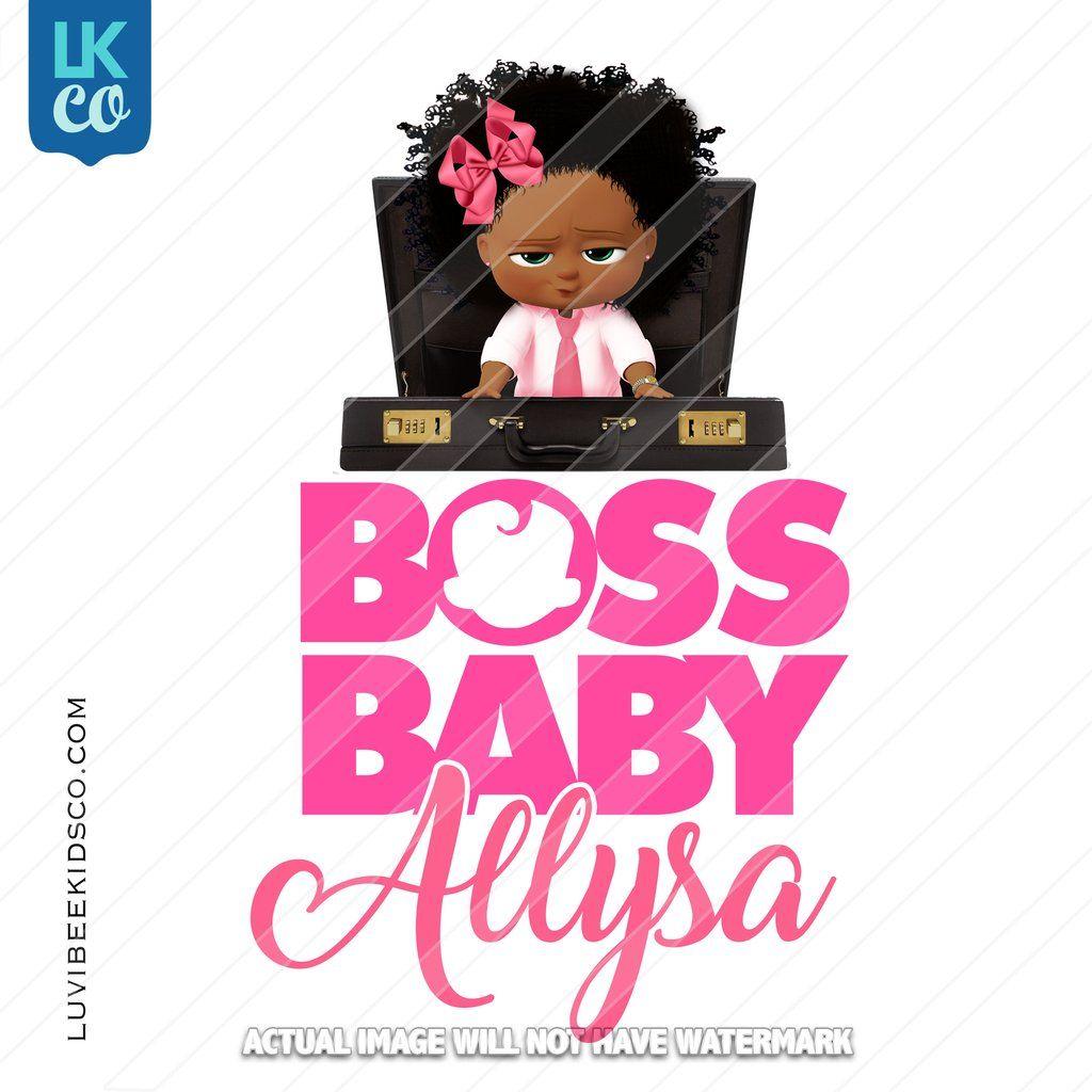 Boss Baby Iron On Transfer | African American Girl ...