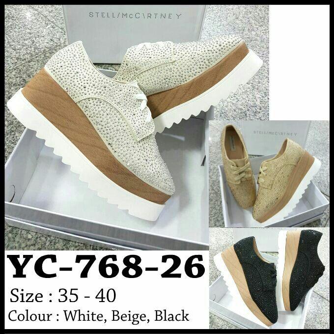 Sepatu Stella McCartney Wedges YC768-26 35-40 415rb  29ccdde6c4