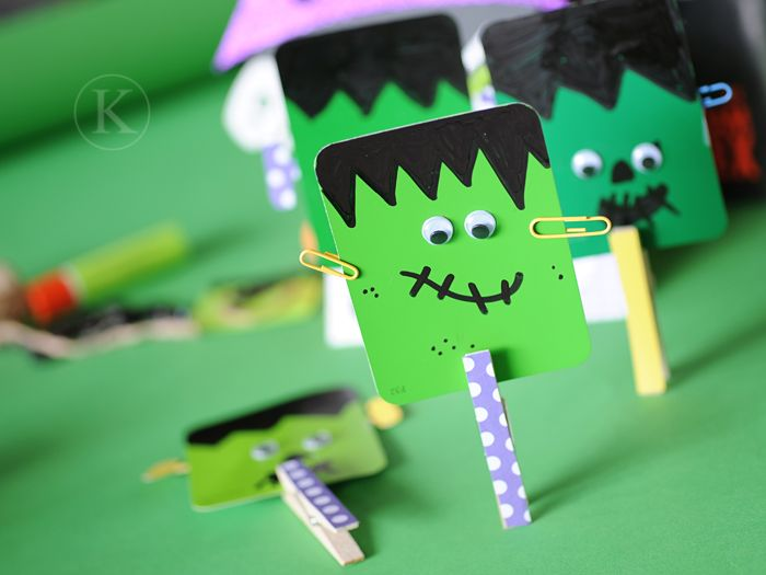 A bunch of cute Frankenstein crafts and activities, perfect for a Halloween party. I love these paint chip Frankensteins!
