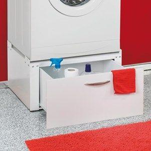 Socle Avec Tiroir Pour Machine A Laver Seche Linge Meuble Machine A Laver Machine A Laver Rangement Machine A Laver