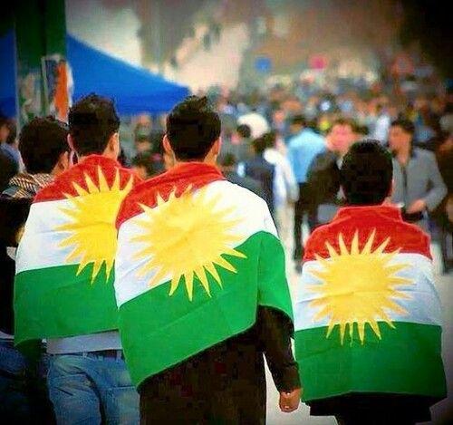 I love my flag (( Kurdistan)) ♡♥♡