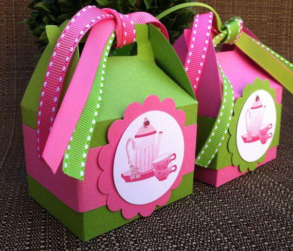 Tea Party Favor Boxes Set of 12