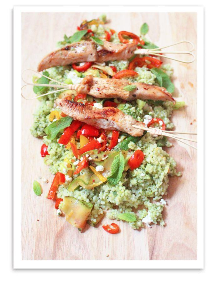 Nachgekocht} CousCous ala Jamies 15 Minuten Küche | Couscous, Spinat ...