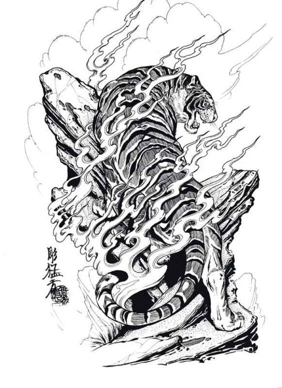 Log climbing one say... | Japanese tiger tattoo, Japanese ...