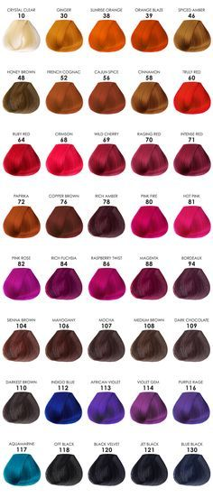Adore Hair Color Chart | Color | Pinterest | Hair Coloring