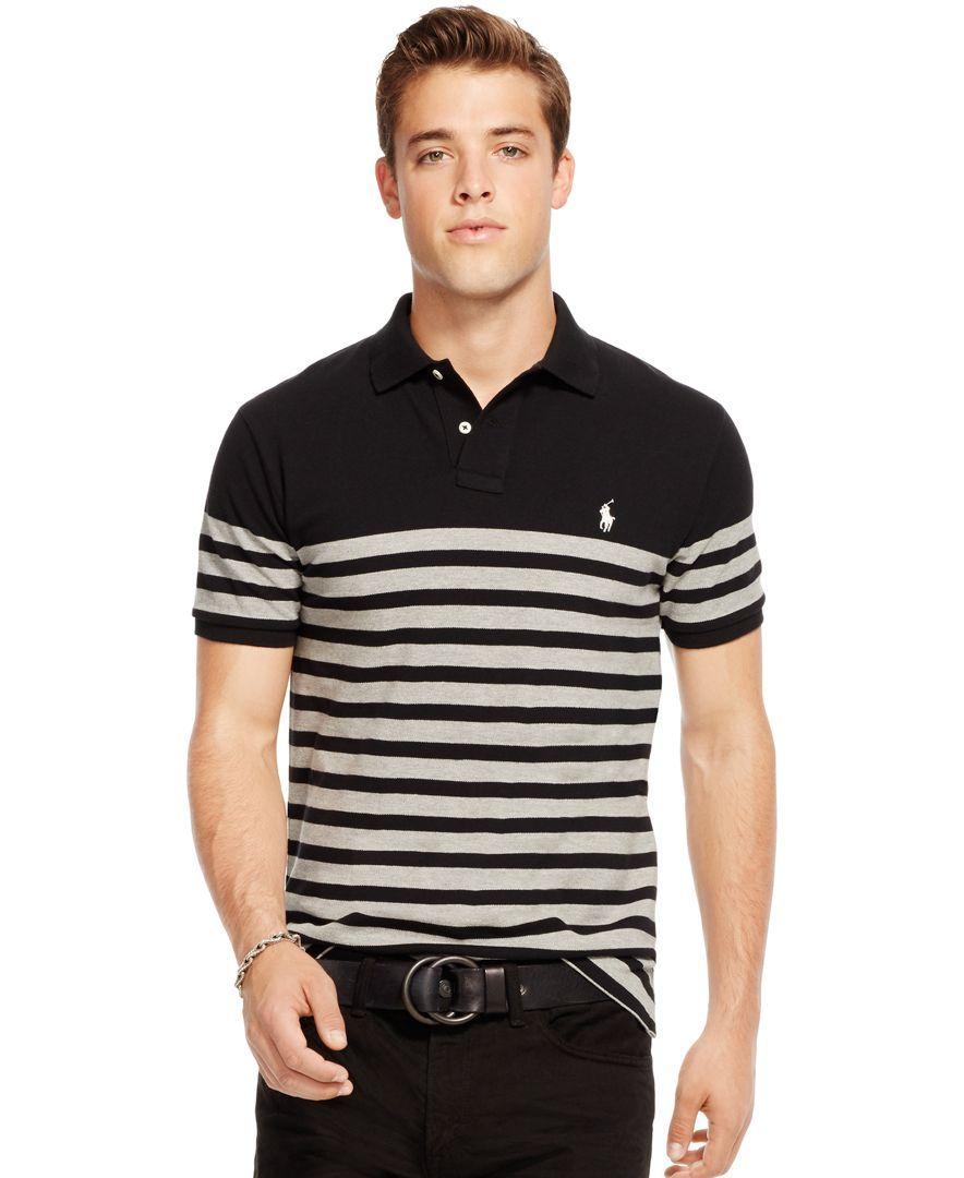 Polo Ralph Lauren Striped Polo Shirt - Polos - Men - Macy's