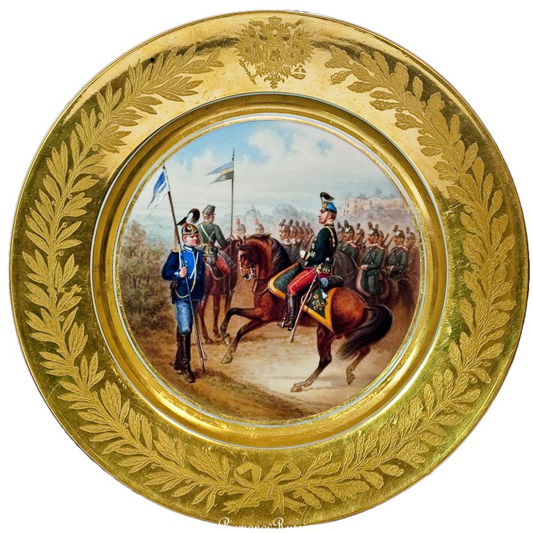 Antique Russian Imperial Porcelain Military Plate 1882 | From a unique collection of vintage silver chargers  sc 1 st  Pinterest & Antique Russian Imperial Porcelain Military Plate 1882 | Flatware ...