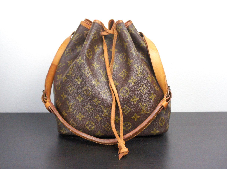 Vintage Louis Vuitton Drawstring Petit Noe Bucket Bag, LV ...